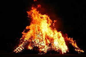 Bonfires were set to ensure the sun would return after a long winter.