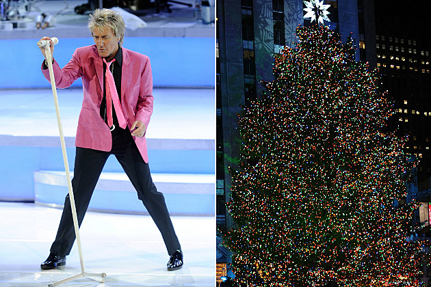 Rockfeller Center Christmas Tree and Rod Stewart