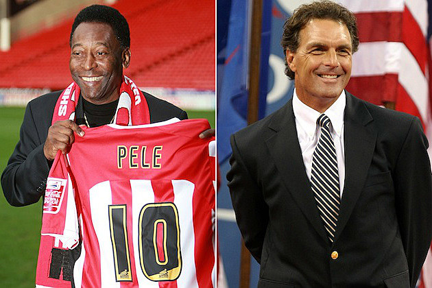 Pele and Doug Flutie