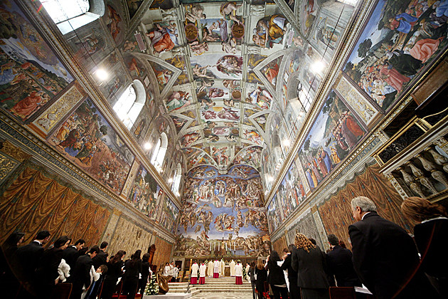 Pope Celebrates Baptisms In The Sistine Chapel