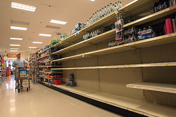 As Hurricane Sandy Moves In Emergency Supplies Run Out
