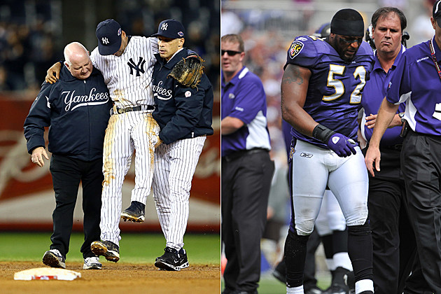 Derek Jeter Ray Lewis injuries