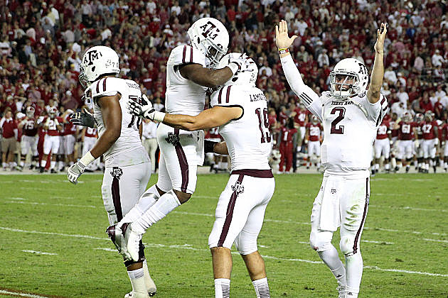 Texas A&M knocks off top-ranked Alabama.