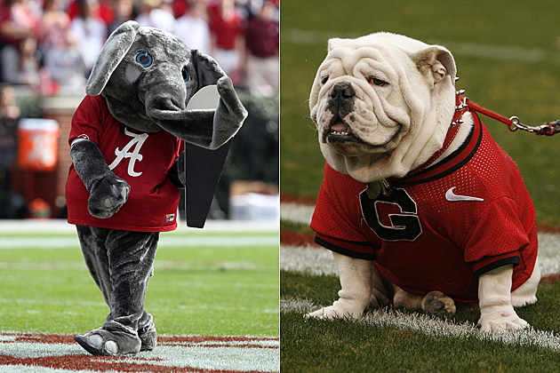 Alabama Georgia mascots
