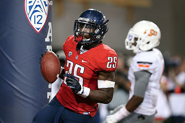 Arizona's Ka'Deem Carey leads the nation in rushing.