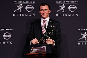Johnny Manziel wins Heisman Trophy.