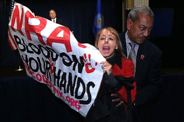 NRA protestor