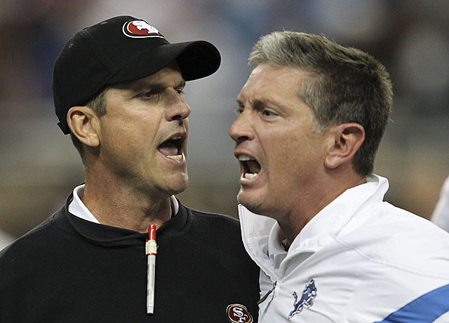 Jim Harbaugh and Jim Schwartz