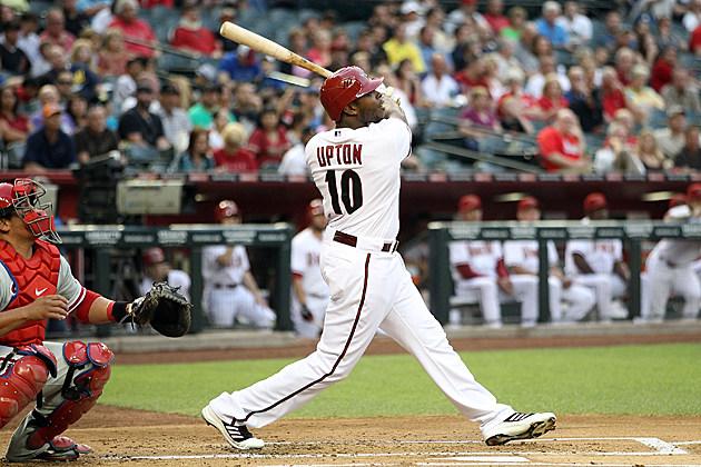 Justin Upton swings