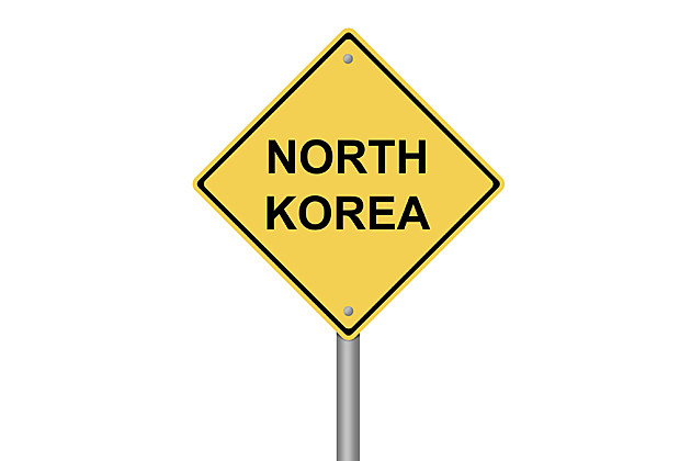 North Korea road sign