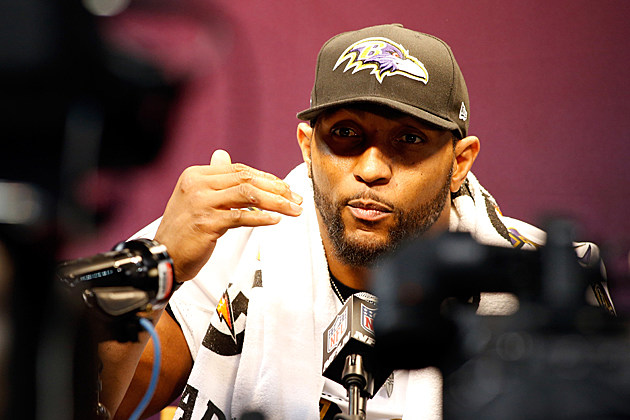 Ray Lewis media day