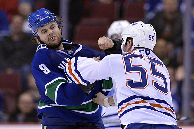 Zack Kassian Ben Eager fight