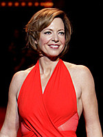 Allison Janney red dress