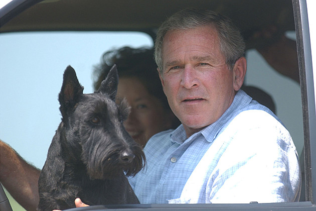George Bush Barney the dog