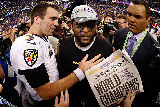 Joe Flacco Ray Lewis Super Bowl