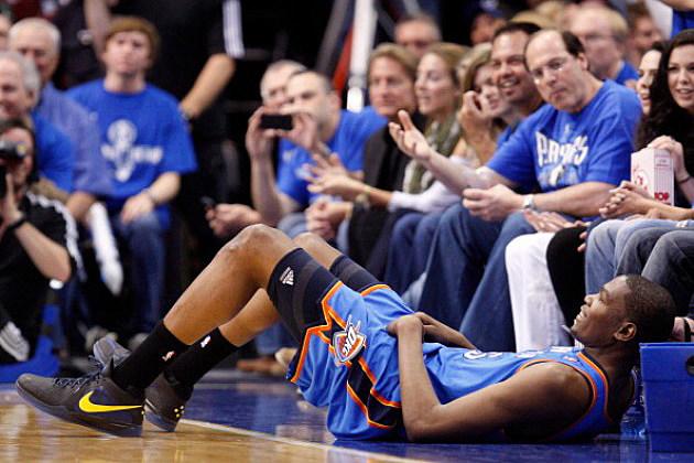Kevin Durant sideline