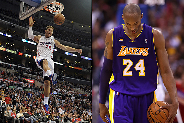 Blake Griffin dunks, sad Kobe Bryant