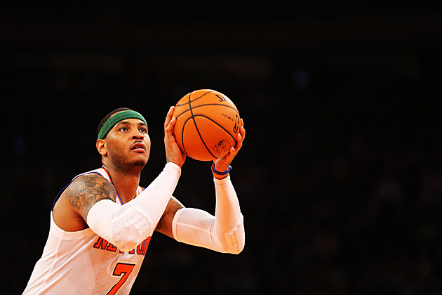 Carmelo Anthony shoots