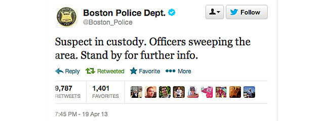Boston Police Department Tweet