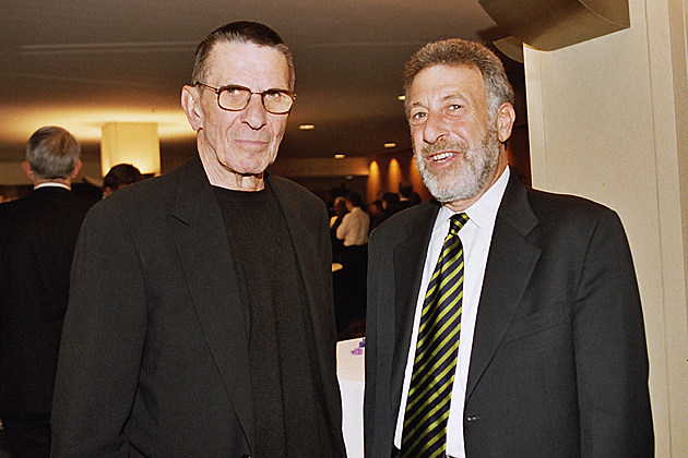 George Zimmer and Leonard Nimoy