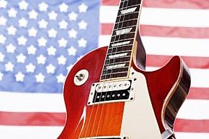 guitar and flag