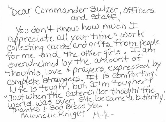letter from Michelle Knight