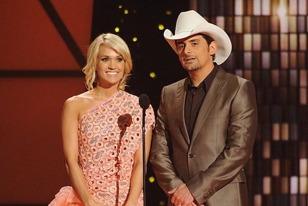 Carrie Underwood Brad Paisley CMAs
