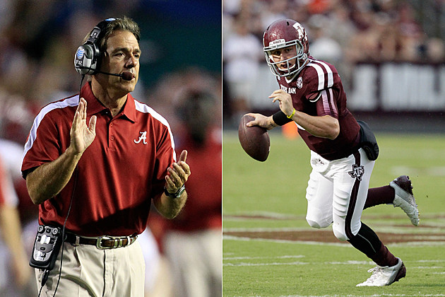 Nick Saban Johnny Manziel