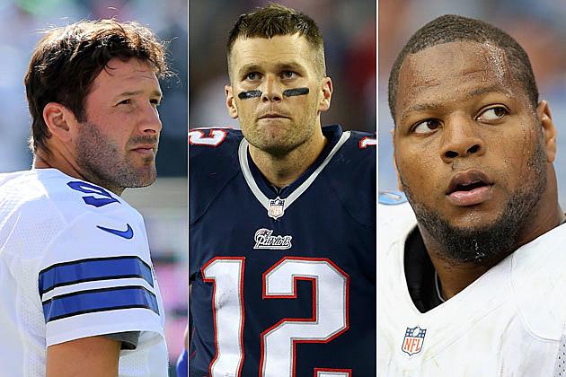 Tony Romo, Tom Brady, Ndamukong Suh