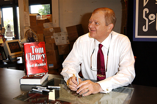 Tom Clancy Autograph Signing Of Red Rabbit