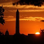 Washington Monument sunset