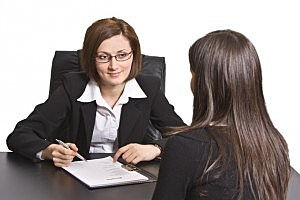 job interview with resume