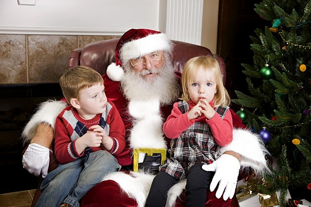 mall Santa with kids
