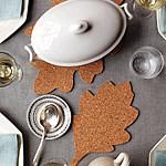 corkboard leaf trivet