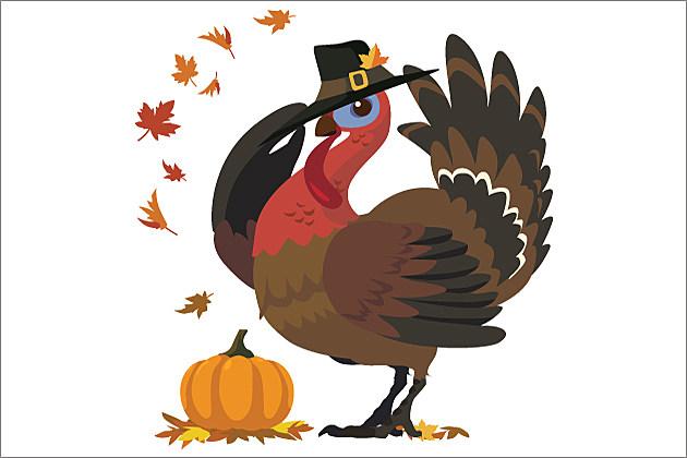 turkey in a pilgrim hat