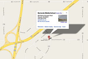 Berrendo Middle School map