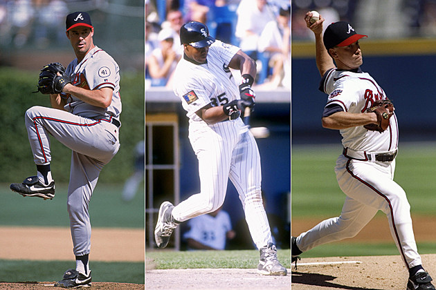 Greg Maddux, Frank Thomas, Tom Glavine