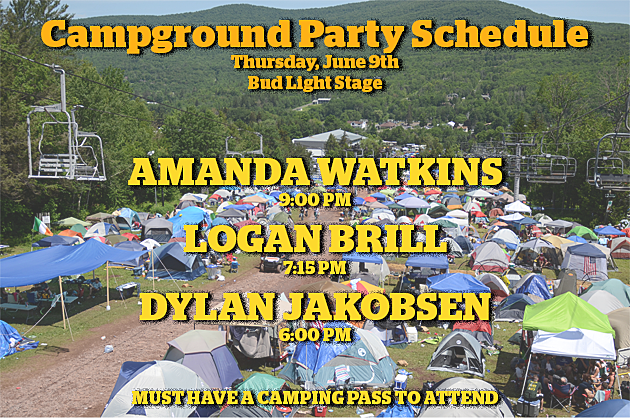 CAMPGROUND PARTY SCHEDULE